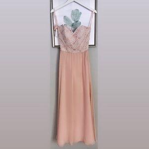 Mori Lee Bridesmaid Dress in Soft Blush